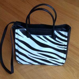 Preston and York - zebra haircalf /leather handbag